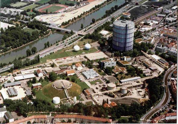 Luftaufnahme Gaswerk Stuttgart (Foto EnBW)