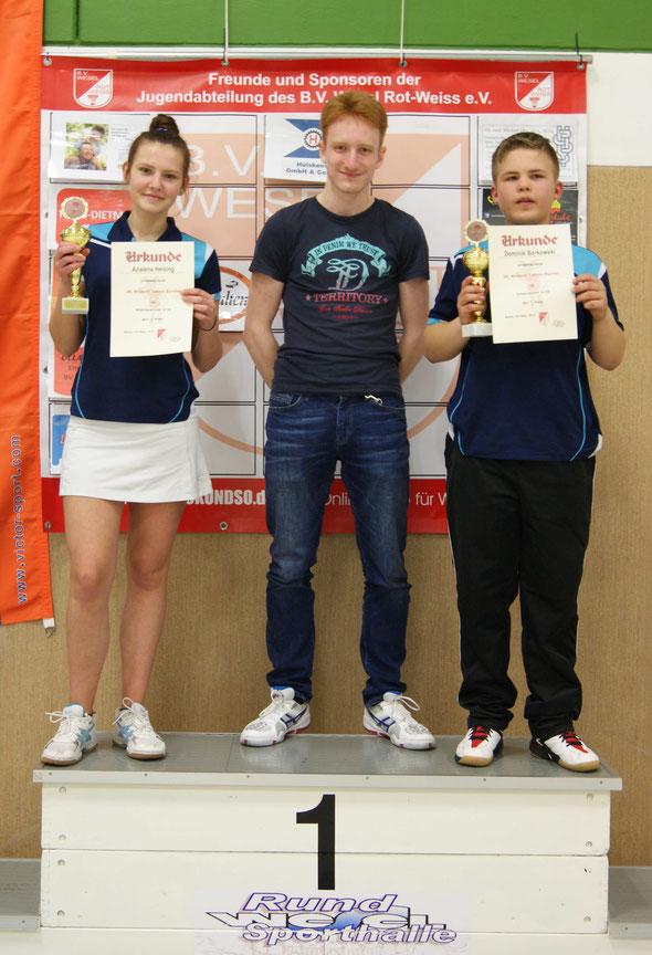 Analena Heising, Daniel Verholen (Coach), Dominik Borkowski