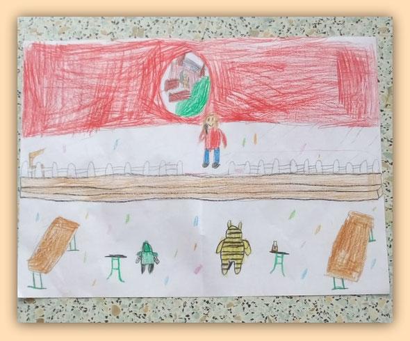 Ein Bild von Julian, welches die Kindersitzung im Zelt zeigt - auch die Kinder vermissen unseren Karneval....