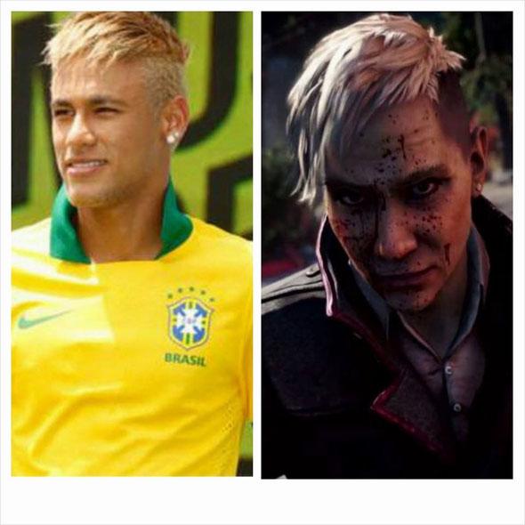 Le beau Neymar et Pagan Min de far cry 4, un petit air de ressemblance !! ...je veux bien jouer à farcry avec Neymar moi
