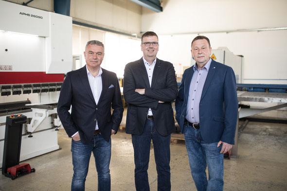 Geschäftsführende Gesellschafter: Hermann Mindermann, Atilla Karakoc, Tadeus Nawrocki (v.l.n.r.)