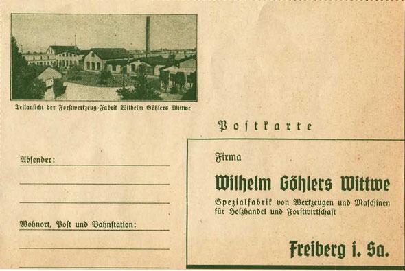 Bestellkarte aus Katalog A 73
