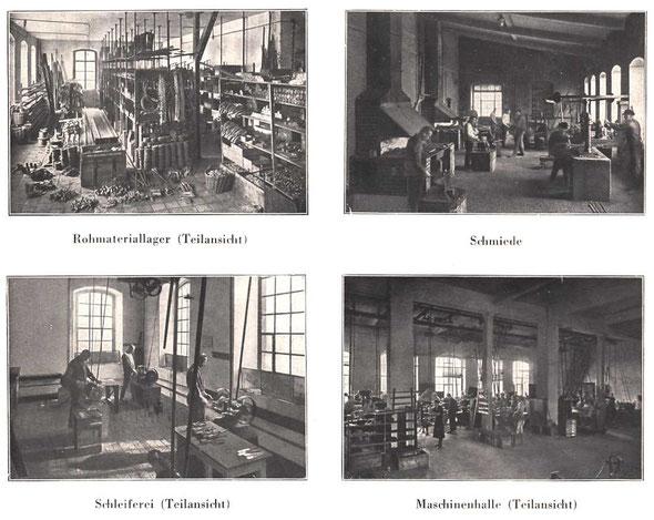 Innenansichten der Werkstätten / Katalog A 73 von 1937
