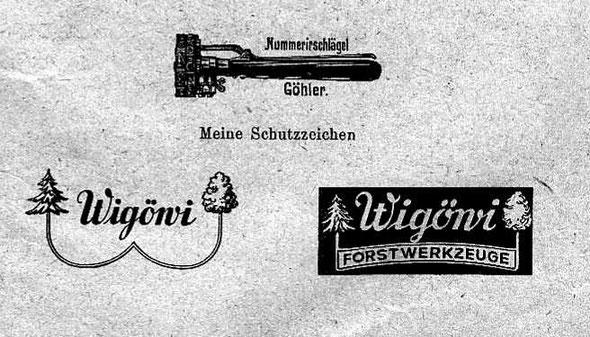 Schutzmarken Wilhelm Göhler's Wittwe