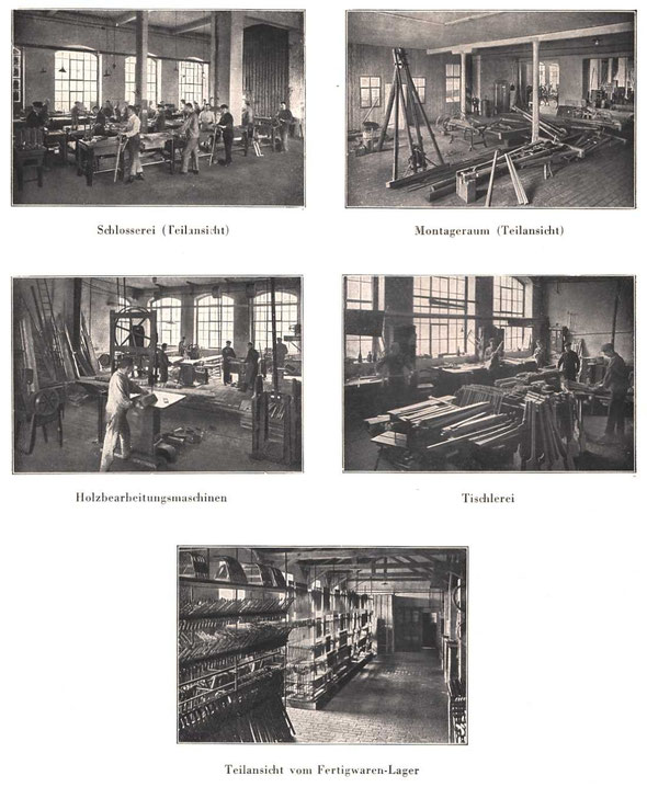 Innenansichten der Werkstätten / Katalog von 1937