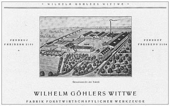 Werbebeilage um 1920