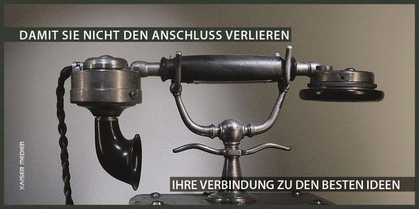 Das Bild zeigt einen Langdun Flyer der Kaiser Medien GmbH.
