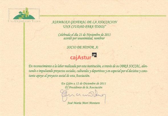 Diploma conmemorativo