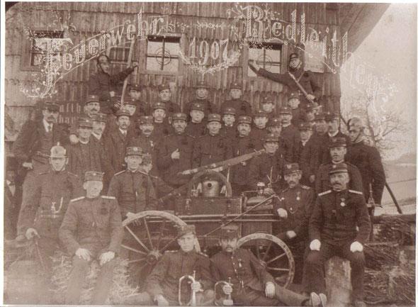 Gründungsfoto der FF Redleiten