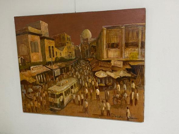 現役生だったころ、美術予備校の「新松戸アトリエ」で描いた作品。卒業のとき美術室に置き忘れていたもの。20年近く飾っていただいていたとは!