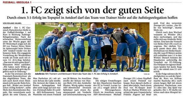 Ga Pa Tagblatt vom 06.05.2013