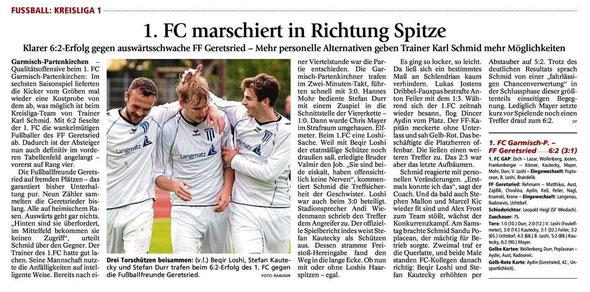 Ga-Pa Tagblatt vom 08.09.2014