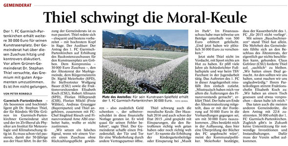 Ga-Pa Tagblatt vom 21.03.2016