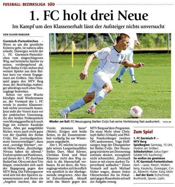 Ga Pa Tagblatt vom 24.08.2013