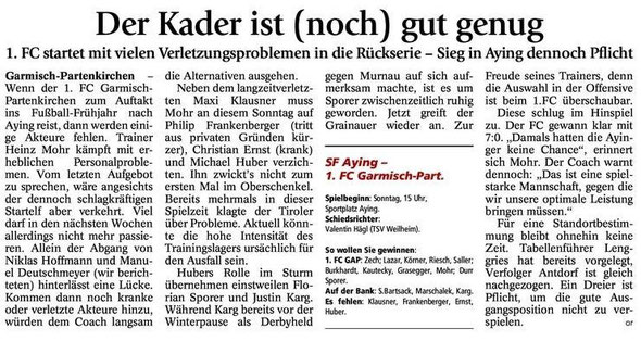 GaPa Tagblatt vom 23.03.2013