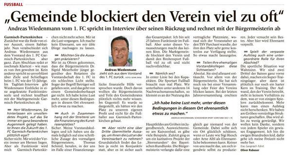 Ga-Pa Tagblatt vom 05.07.2016