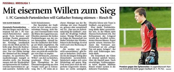 Bericht GaPa Tagblatt vom 21.04.2012