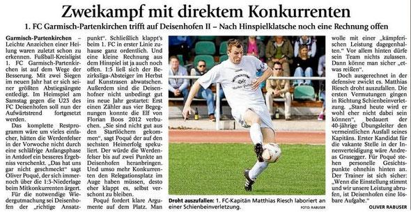 Artikel GaPa Tagblatt vom 14.04.2012