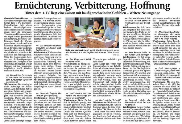 Garmischer Tagblatt vom 16.06.2014