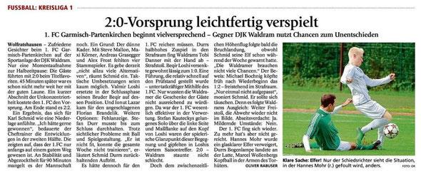 Ga-Pa Tagblatt vom 18.8.2014