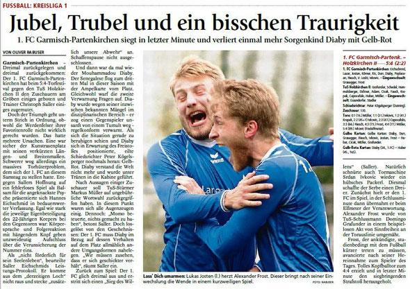 Ga-Pa Tagblatt vom 19.10.2015
