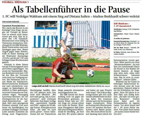 Ga-Pa Tagblatt vom 26.09.2015