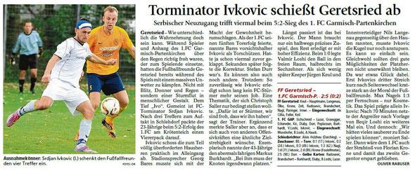 Ga-Pa Tagblatt vom 17.08.2015