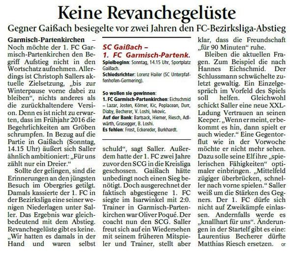 Ga-Pa Tagblatt vom 24.10.2015