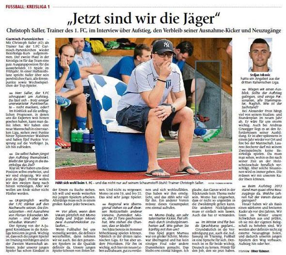 Garmischer Tagblatt vom 26.11.2015