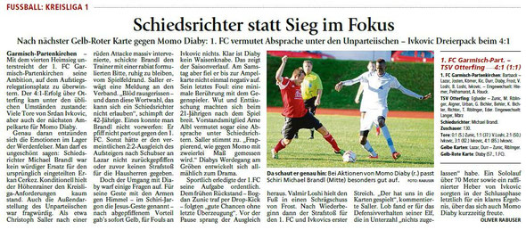 Ga-Pa Tagblatt vom 09.11.2015