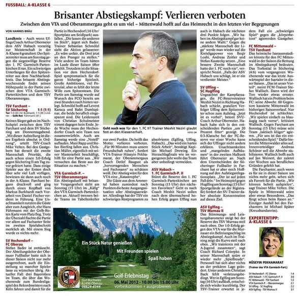 GaPa Tagblatt vom 05.05.2012
