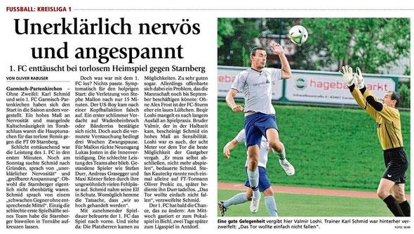 Ga-Pa Tagblatt vom 4.8.2014