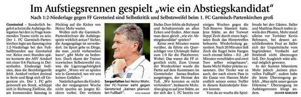 Ga Pa Tagblatt vom 13.05.2013
