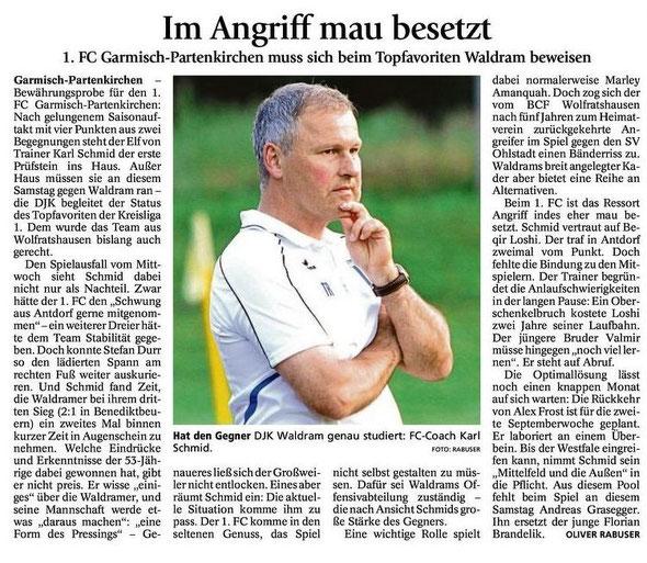 GaPa Tagblatt vom 16.08.2014