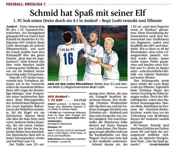 Ga-Pa Tagblatt vom 9.8.2014
