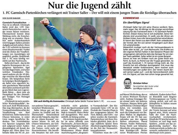 GaPa Tagblatt vom 29.05.2015