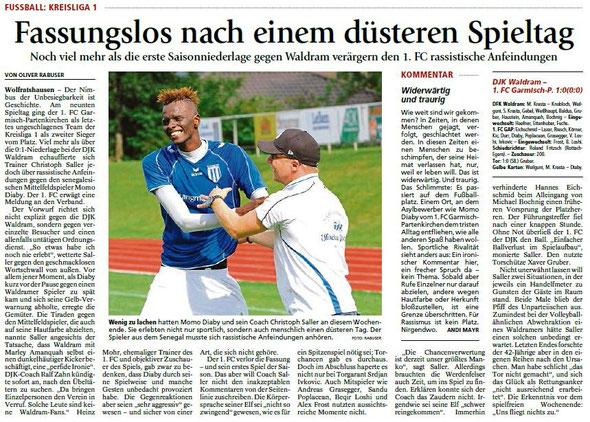 Ga-Pa Tagblatt vom 28.09.2015