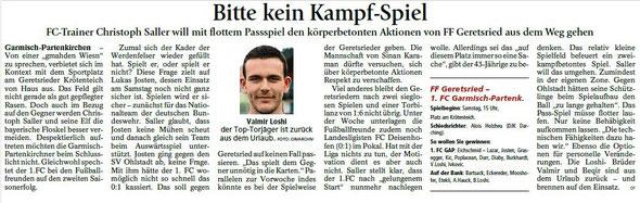 Ga-Pa Tagblatt vom 14.08.2015