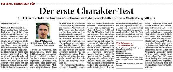 Ga Pa Tagblatt vom 26.10.2013