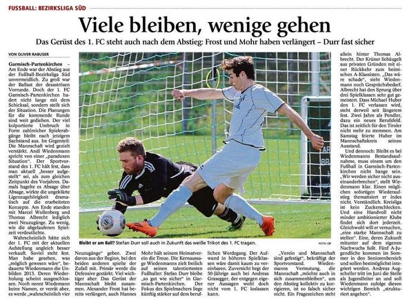 Garmischer Tagblatt vom 20.05.2014