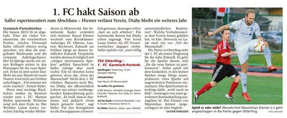 Ga-Pa Tagblatt vom 25.05.2016