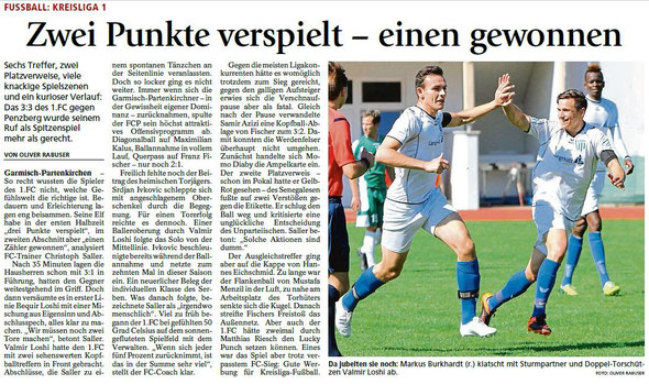Ga-Pa Tagblatt vom 31.08.2015