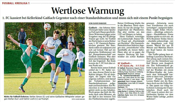 Ga-Pa Tagblatt vom 26.10.2015