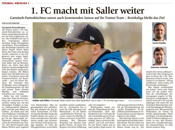 Ga-Pa Tagblatt vom 26.04.2016