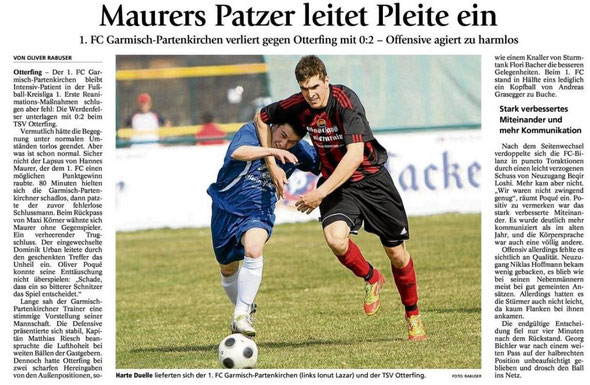 Artikel Garmischer Tagblatt vom 26.03.2012