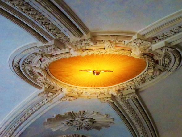 Historisches Rätselfoto № 7: Die Taube in der Schloss- und Stadtkirche – Foto: ©Matthias Knaust