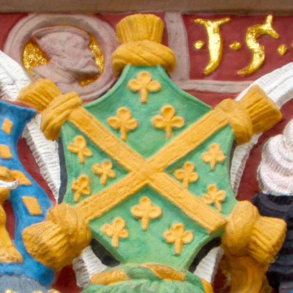 Noch heute überall im Schloss Weilburg zu sehen: Das Wappen des alten Merenberger Grafengeschlechtes, welches schließlich im Haus Nassau-Weilburg aufging. (Foto: Radkovsky)