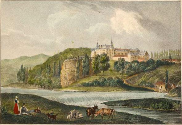 """Jobard frères [Public domain], via Wikimedia Commons"" Château d'Oranienstein sur la Lahn.jpg"