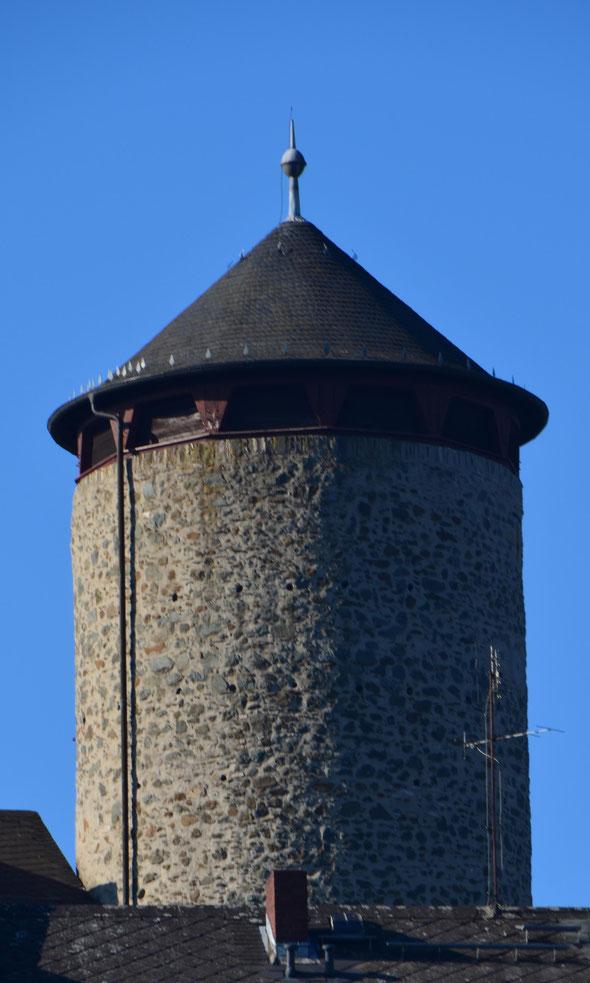 Der Stadtturm zeugt noch von der mittelalterlichen Befestigung Weilburgs (Foto: Radkovsky)