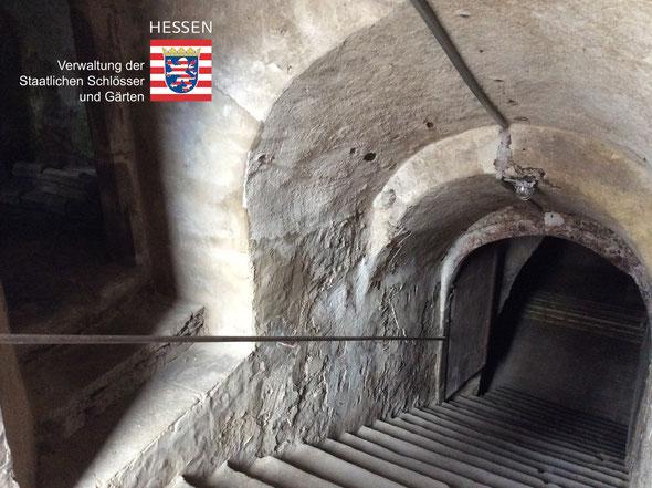 Nur an besonderen Terminen zugänglich: Die Kellerräume unter dem Weilburger Renaissanceschloss. (Foto: Krämer/Schlossmuseum Weilburg)